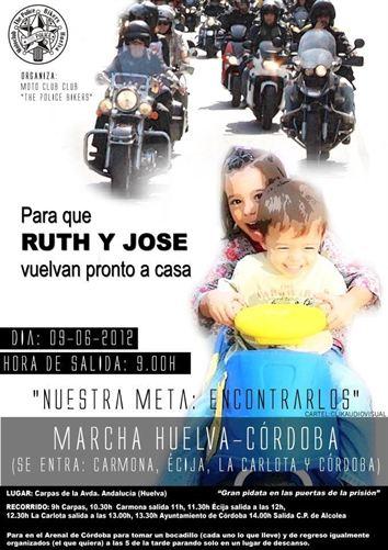 Convocan marcha motera de Huelva a Córdoba por Ruth y José